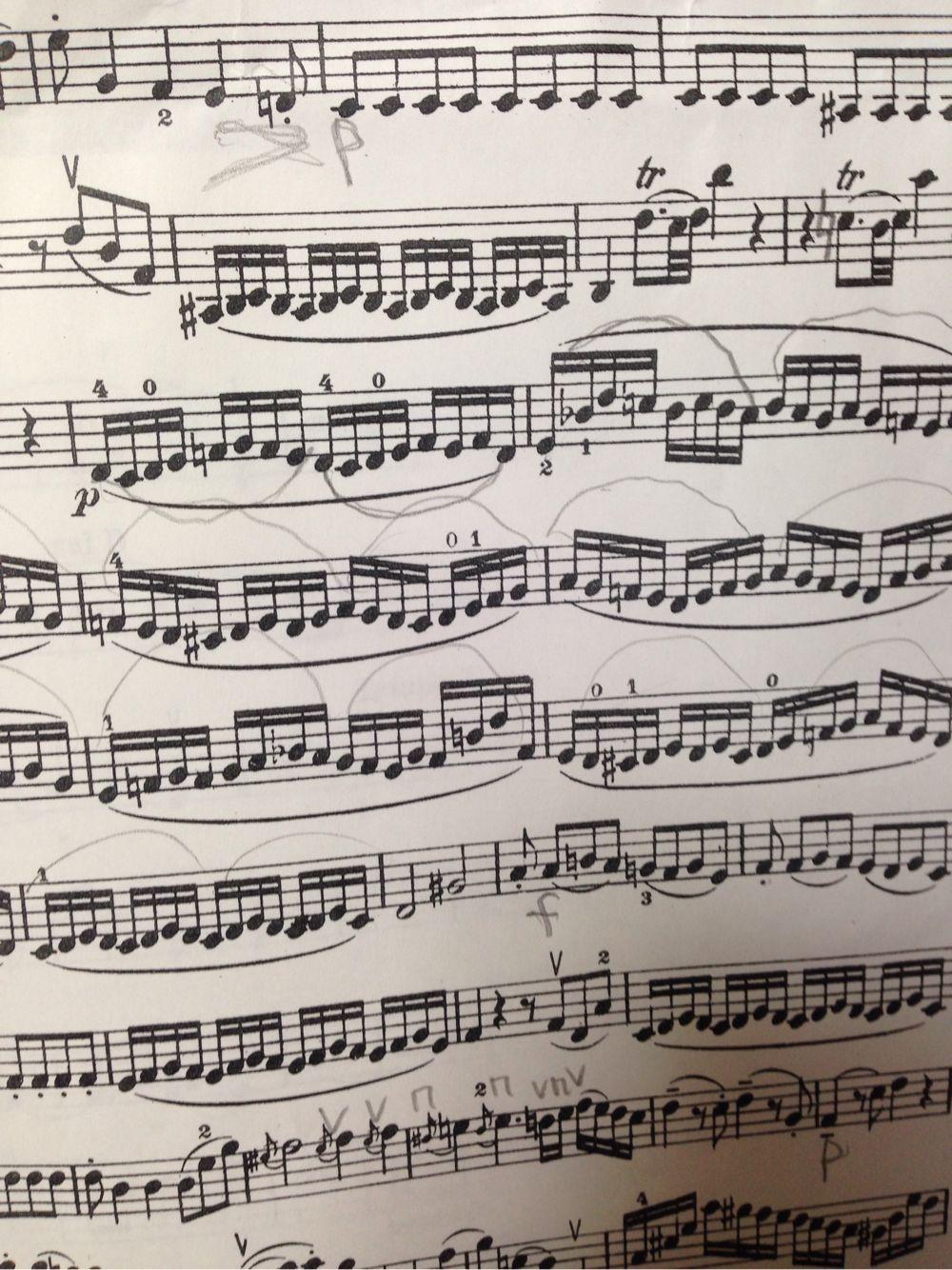 モーツァルト ディヴェルティメント K.136 最1楽章から 第2バイオリンのパート譜